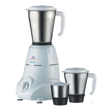 Bajaj REX 500W 3 Jar Mixer Grinder - White