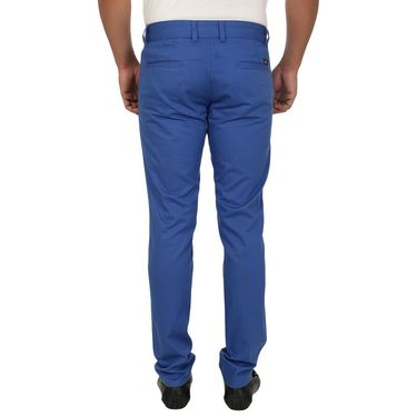 Pack of 2 Blimey Slim Fit Cotton Chinos_Bf16 - Brown & Blue
