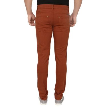 Pack of 2 Blimey Slim Fit Cotton Chinos_Bf34 - Rust & Khakhi