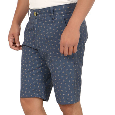 Blimey Regular Fit Cotton Shorts_Bf51 - Blue