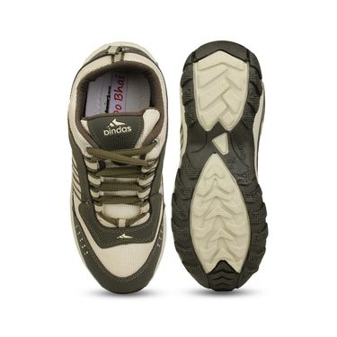 Do Bhai Synthetic Leather Sports Shoes Bindaas-Cream