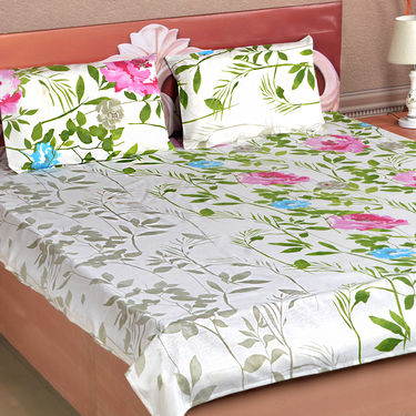 ... Blooming Floral Pack Of 5 Cotton Rich Bedsheets (5BS6)