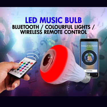 Bluetooth Speaker with Dancing LED Bulb