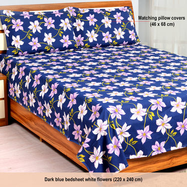 Bombay Dyeing Set of 3 Floral Print Bedsheets