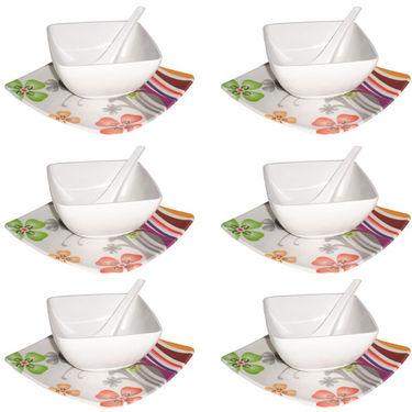 Branded 18Pcs Melamine Soup Set - White