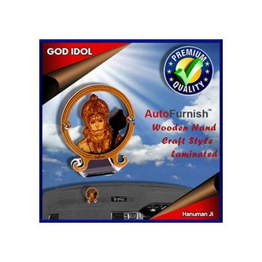 Branded God Idol Hanuman Ji Dashboard Wooden Hand Craft Style