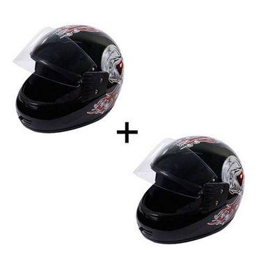 Branded DNG Max Black Full Face Helmet Red Graphics