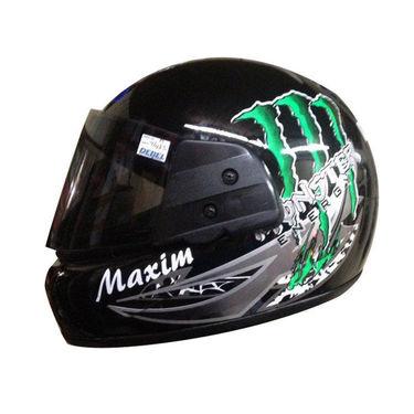 Branded Monster Graphic Full Face Helmet - Black