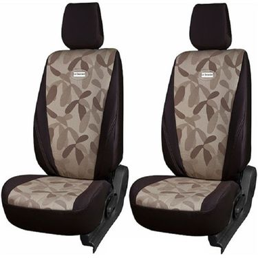 Branded Printed Car Seat Cover for Chevrolet Captiva - Brown