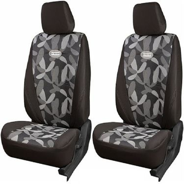 Branded Printed Car Seat Cover for Skoda Rapid - Grey