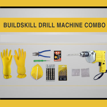 BuildSkill (BED1100) 222 Pcs Drill Machine Combo
