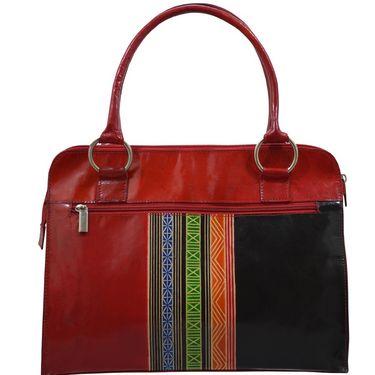 Arpera Genuine Leather Handbag C11448-3 -Red