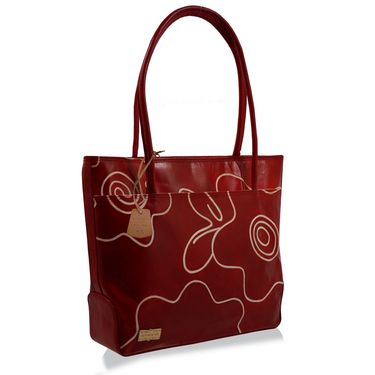 Arpera Genuine Leather Handbag C11479-3A -Red