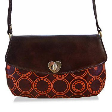 Arpera Genuine Leather Sling Bag C11517-2 -Brown