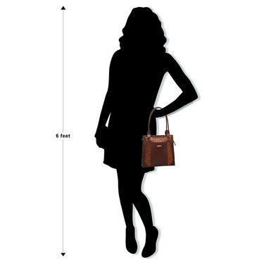 Arpera Brown Ladies Handbag Ssa10