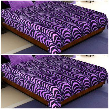 Storyathome Designer Printed  Multicolor 2 Pc Double Fleece Blanket-CA1202-CA1202