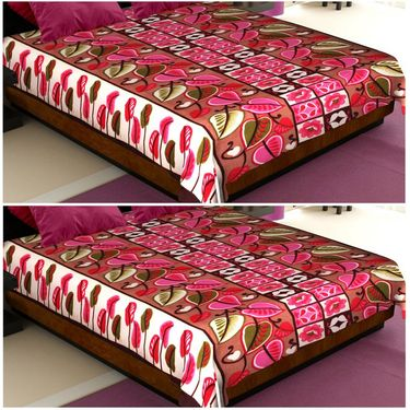 Storyathome Designer Printed  2 Pc Double Fleece AC Blanket-CA1208-CA1208