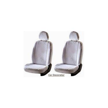 Car Seat Cover For Hindrance Scorpio - White - CAR_1SC1WHT228