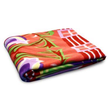 Pack of 5 Designer Printed Double Fleece AC Blanket-CA_1210