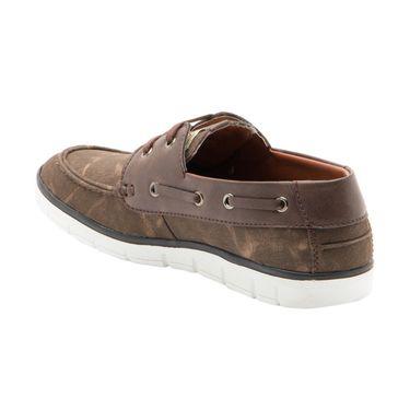 Randier Canvas Brown Casual Shoes -Cfl005