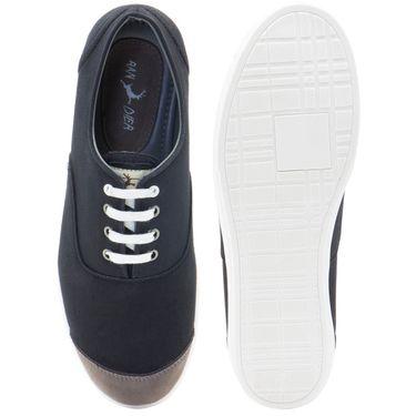 Randier Canvas Black & Grey Canvas Shoes -Cfl007