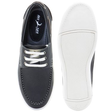 Randier Synthetic Leather Black Casual Shoes -Cfl014