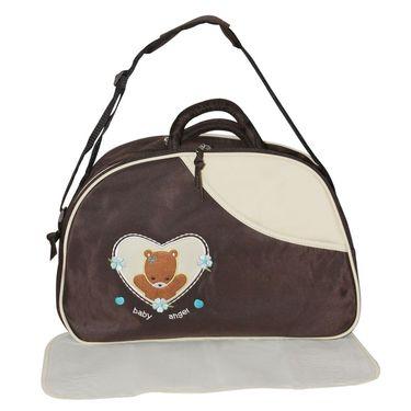 Wonderkids Teddy Print Baby Diaper Bag ? Brown