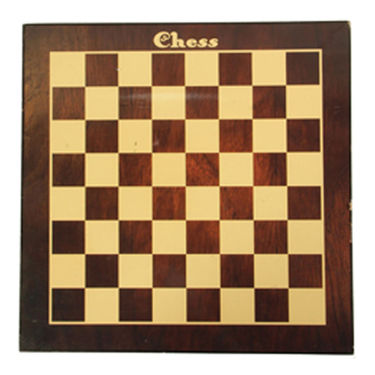 AVM 16inch Laminated MDF Flat Chess Board (0.25 inch Border, Brown Yellow)