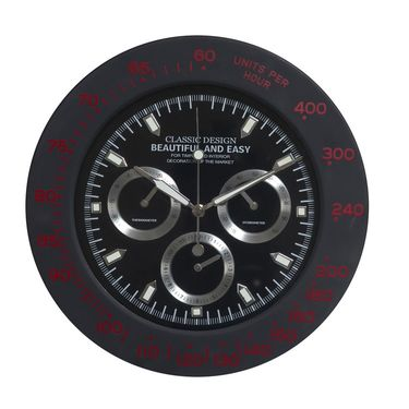 Amazing Black Round Analog Wall Clock
