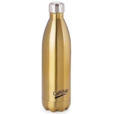 CarryMe Aqua Hot & Cold Flask 1000 ml Bottle - Golden