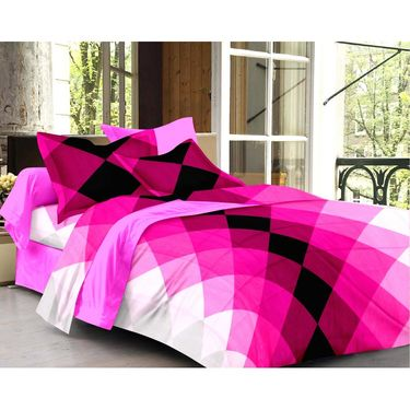 Set of 2 Double Bedsheet with 4 Pillow Cover-1270-1253