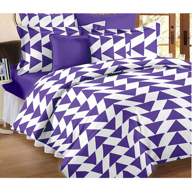 Set Of 2 Double Bedsheet With 4 Pillow Cover-CN_1227-CN1406