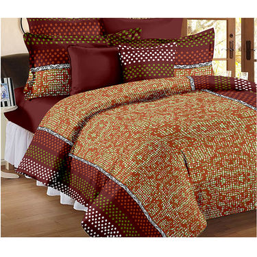 Set Of 2 Double Bedsheet With 4 Pillow Cover-CN_1233-CN1264