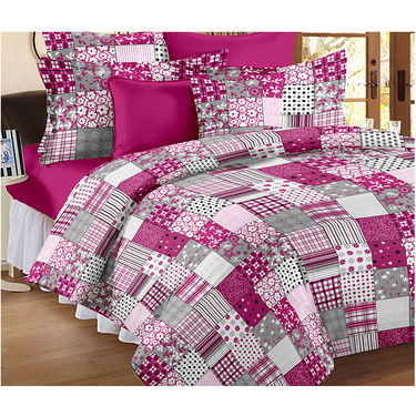 Set Of 2 Double Bedsheet With 4 Pillow Cover-CN_1243-CN1403