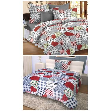Storyathome 100% Cotton Double Bedsheet & 1 Single Bedsheet With 3 Pillow Cover -CN_1256-FY1411