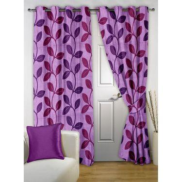 Combo of 100% Cotton Double Bedsheet, Blanket, Curtain Set & Door Mat-CN_1268