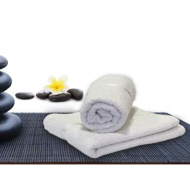 Combo of 100% Cotton Double Bedsheet, Blanket, Curtain Set & Hand Towel Set-CN_1406
