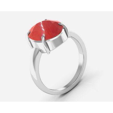 Kiara Jewellery Certified Moonga 3.0 cts & 3.25 Ratti C&al Moonga Ring_Corw
