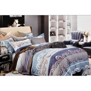 Valtellina Lovely Lining Print Double Bed Sheet-CS-021