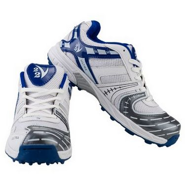 V22 Ultra Cricket Shoes  White & Blue Size - 9