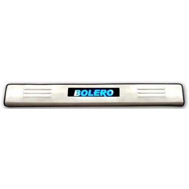 Set of 4 pcs Car Door Sill Scuff Plate Foot Step for Bolero - Blue LED