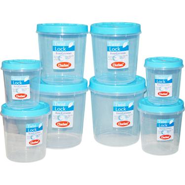Chetan 8Pcs Twist Lock Kitchen Storage Container Set - Blue