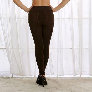 Clovia Nylon Spandex Plain Stocking - Brown - ST0023W06