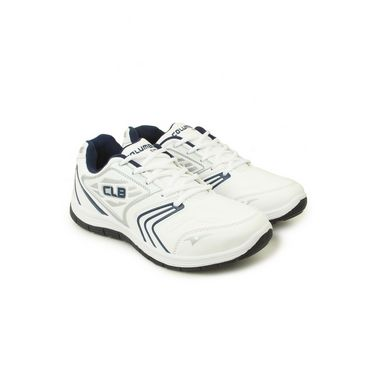 Columbus Mesh Sports Shoes Columbus FM-12 -White & Navy Blue