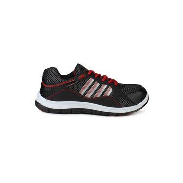 Columbus Mesh Sports Shoes Col FM-12-Black & Red