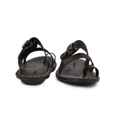 Columbus Synthetic Leather Brown Sandals -2512