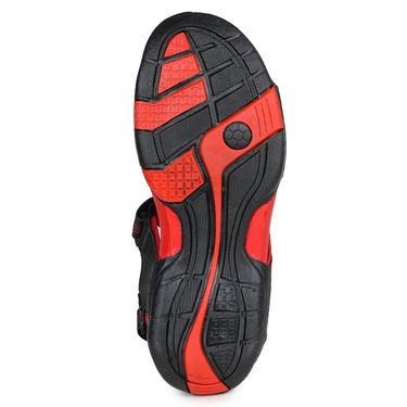 Columbus PU Black & Red Casual Floaters -Ab-771
