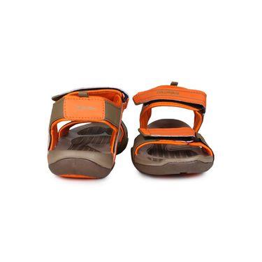 Columbus PU Beige & Orange Casual Floaters -Ab-772