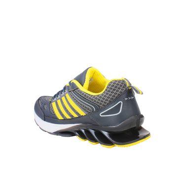 Columbus Mesh Sports Shoes _Blaze -Grey & Yellow