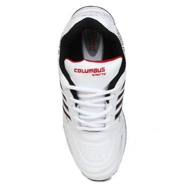 Columbus White & Black & Red Sports Shoe C20